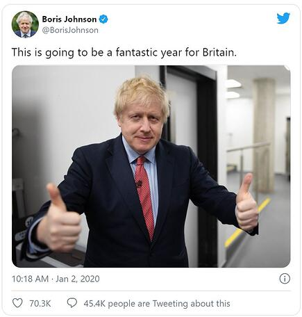 Going to be a good year Boris